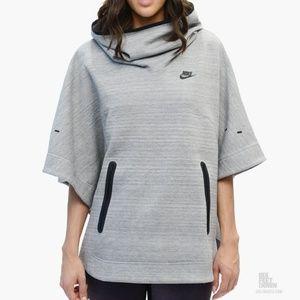 Nike Tech Fleece Gray Pullover Hooded Poncho